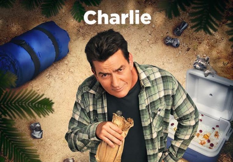 Charlie Sheen on Mad families poster (2017)